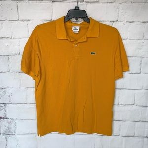 Lacoste Short Sleeve Polo Shirt Mustard Men's 6